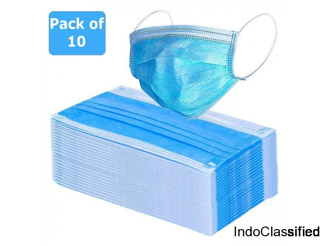 3 Ply Surgical Face Mask, Pack of 50