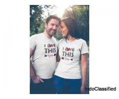 Get best Matching Couple t shirts with affordable cost