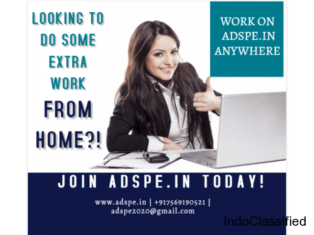 Don't miss earn online with Ad posting jobs