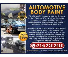 STARTING AT *$399 AUTO BODY PAINT -Dana Point