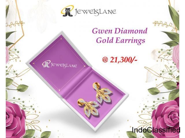 Gwen Diamond Gold Earrings