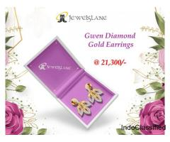 Gwen Diamond Gold Earrings