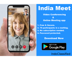 India Meet- Free Video Conferencing & Online Meeting App