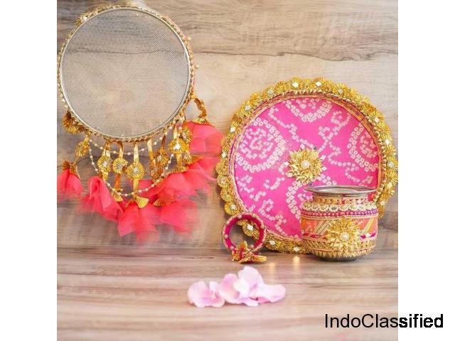 Buy designer Karva Chauth thali items