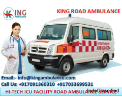 Safely Shift Patient by King Road Ambulance Service in Patna