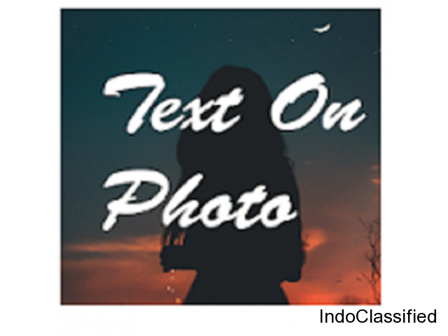 Text on Photo with style - Photos Text Editor