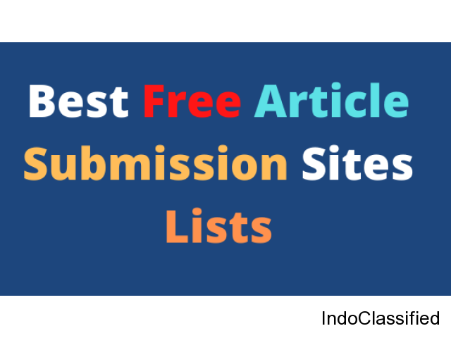Top Free Best Article Submission Sites Lists in India
