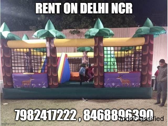 JUNGLE BOUNCY ON RENT DELHI NCR FOR EVENT AND BIRTHDAY PARTY DEORATION