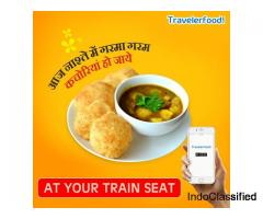 Food in train at Bina Junction Railway station