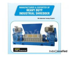 Heavy duty industrial double shaft shredder machine