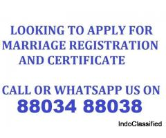 All Marriage Registration and Certificate Services Call 88034 88038