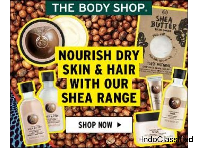 Nourish your dry skin & hair with The Bodyshop