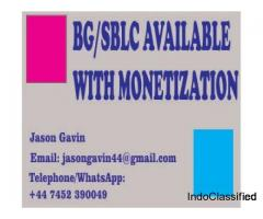 BG/SBLC AVAILABLE WITH MONETIZATION