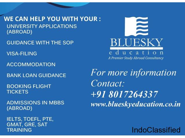 Looking to study abroad? Blue Sky Education offers you solutions.