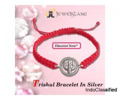 Buy Trishul Bracelet In Silver
