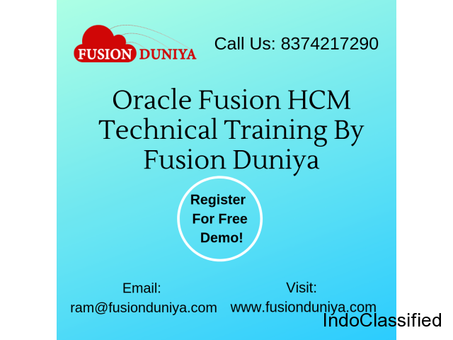 Learn to earn more by joining Oracle Fusion HCM OnlineTraining
