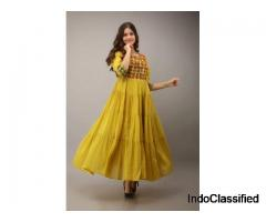 Buy long designer kurtis online for women and girls at best prices