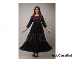 Choose fashionable anarkali party wear kurta for coming ethnic parties