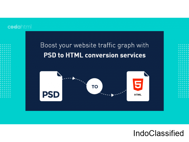 Boost your website traffic graph with PSD to HTML conversion services