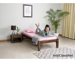 Single Bed with Mattress on Rent, Furniture Rental