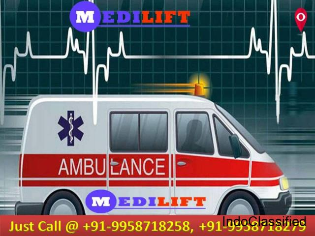 Find Medilift Ambulance near in Patna with Medical Support