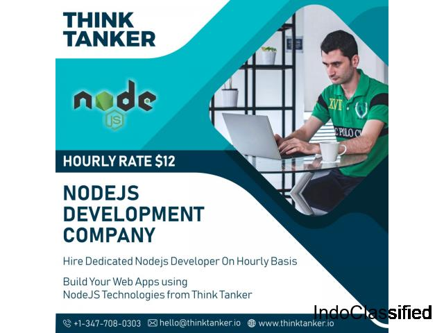 Hire NodeJs Developer Bangalore, Ahmedabad, Pune, Mumbai - ThinkTanker