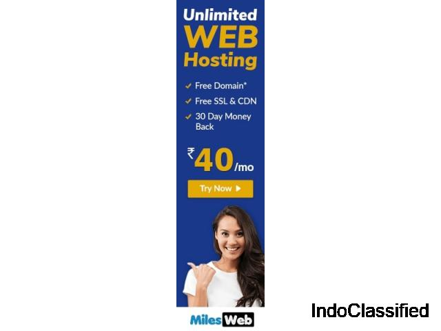 high-quality and best web hosting at MilesWeb.
