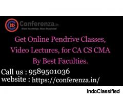 Get Online Pendrive Classes, Video Lectures, for CA CS CMA By Best Faculties.