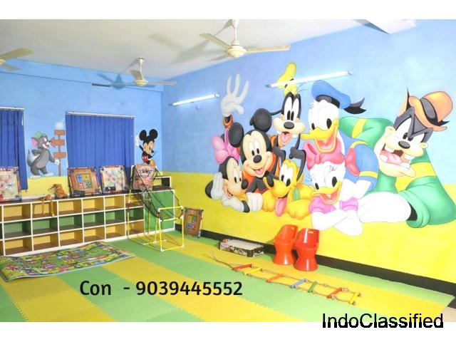 School Wall Painting Artist in Indore,Playschool Cartoon Painting Works Indore