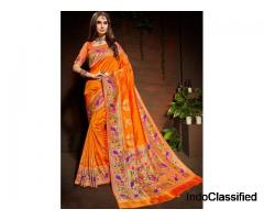 Buy pure Banarasi sarees online from All About Silks