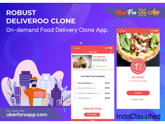 On-demand Deliveroo Clone App with user friendly options