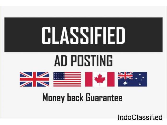 Classified ads manually in top USA, UK, aus, ca sites