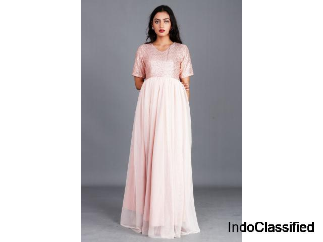 buy Gown Pink Dresses for women online