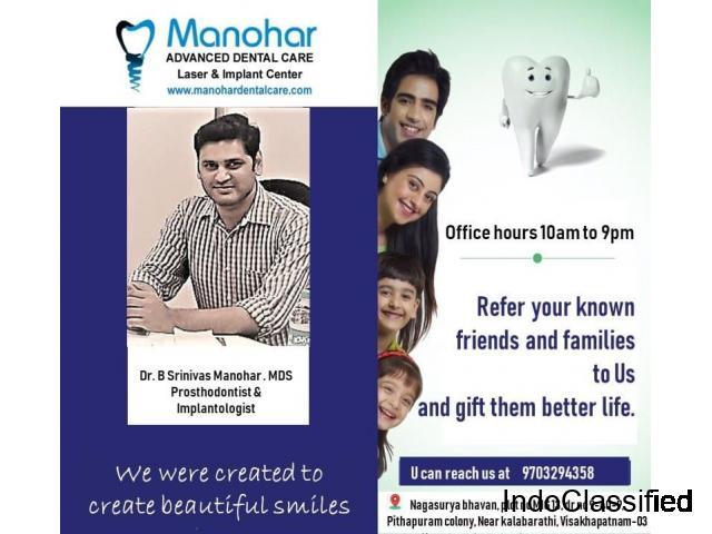 milk teeth extraction clinic in vizag| Manohar Dental