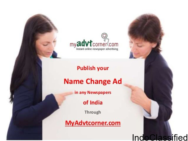 Name Change Advertisement