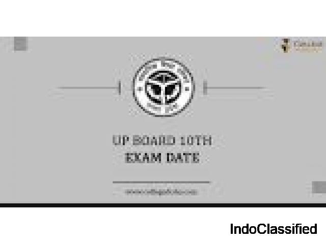 Check Now the UP Board 10th Time Table 2021