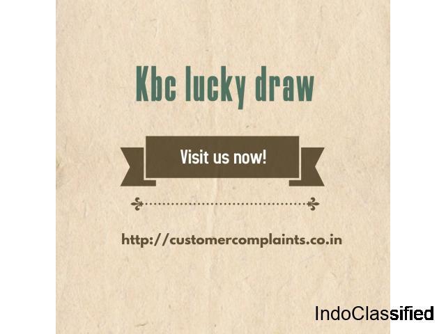 Kbc lucky draw