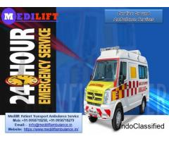 Book 365 Days Medilift Ventilator Ambulance Service in Kurji