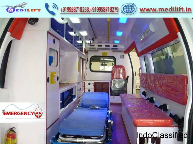 Easily Pick Medilift Ambulance in Anishabad in Patna by Medilift