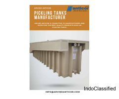 Polypropylene Plant Manufacturers | Pickling Tanks | PP Tank Suppliers