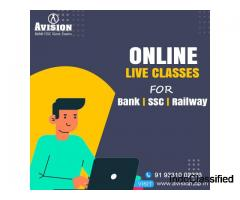 Best Online Live Classes for Bank SSC Railway - Avision Institute
