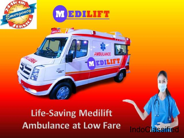 Now Get Medilift Emergency Ambulance in Patna at Low Fare