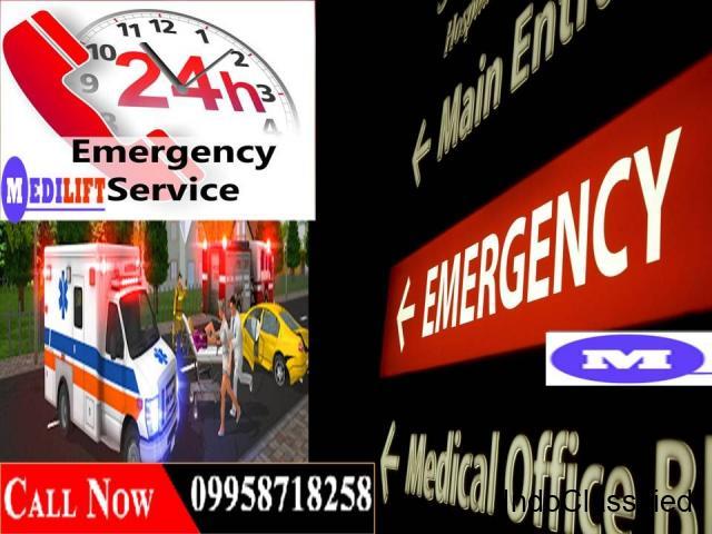 No Hidden Cost Medilift Road Ambulance in Patna with Medical