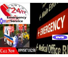 No Hidden Cost Medilift Road Ambulance in Patna with Medical