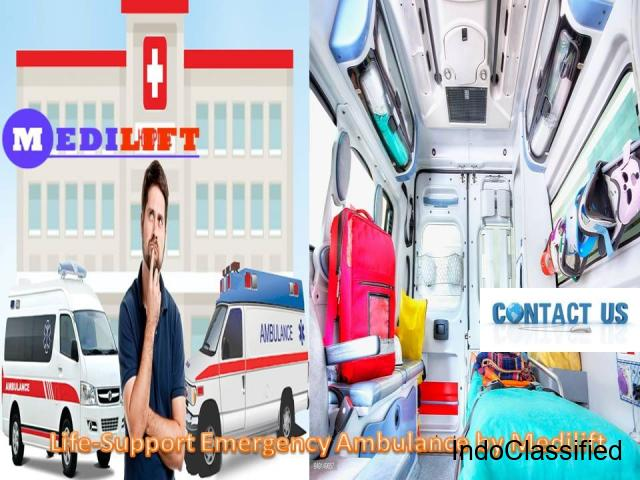 Hire Medical Support Medilift Ambulance from Purnia to Patna