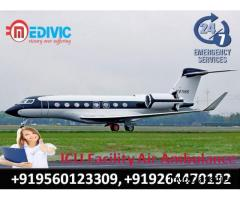 Book Superior Air Ambulance Services in Kolkata with Medical Tool