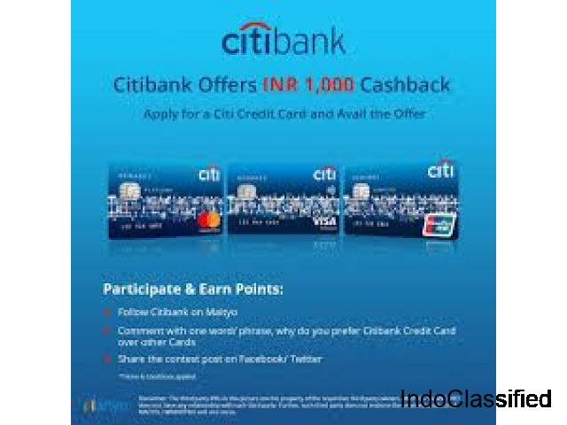 Apply for Citi Credit Card and get an Amazon Gift Card worth Rs 1000