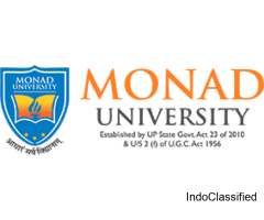 Admission open in Monad Unversity for 2021.