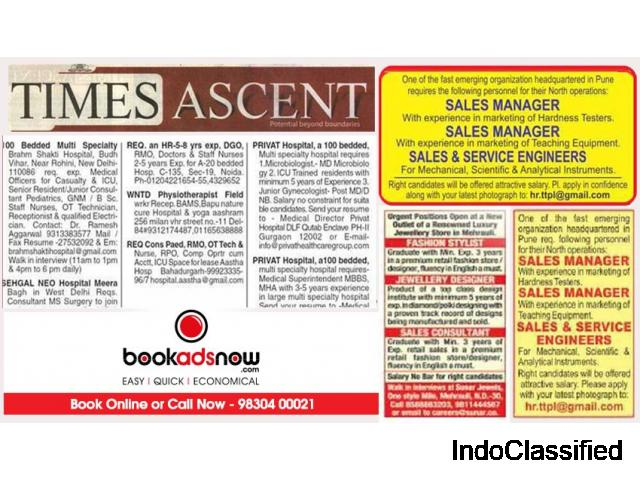 Get Assured Candidates With Appointment Ads