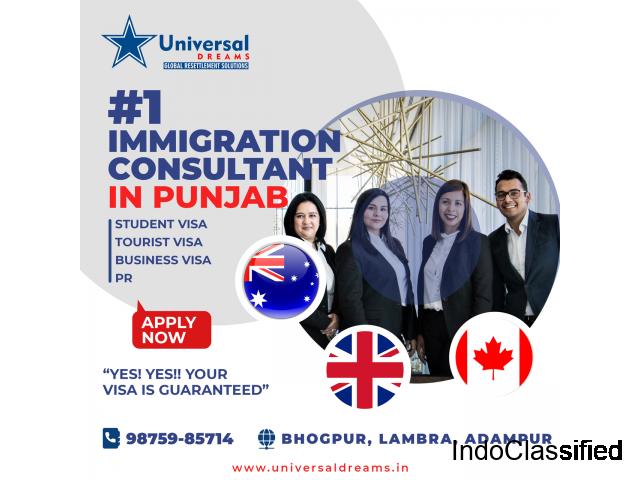 Best Immigration Consultants in Punjab | Student Visa, PR, Tourist Visa | Universal Dreams